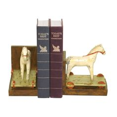 PAIR CHILDS PONY BOOkENDS by ELK Lighting