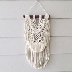 Gypsy Small macrame wall hanging by WovenWhale on Etsy