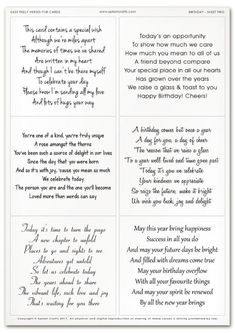 Best 12 Easy Peely Verses for Cards – Birthday Sheet 2 Birthday Verses For Cards, Birthday Card Messages, Birthday Card Sayings, Homemade Birthday Cards, Birthday Sentiments, Birthday Cards For Friends, Birthday Greeting Cards, Easy Birthday Cards, Birthday Greetings For Mom