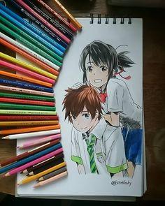 Kimi no na wa 君の名は #kiminonawa#anime#draw#art I really freaking love this movie