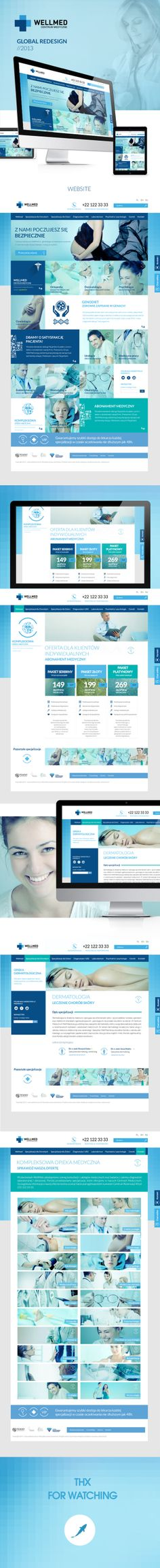 Wellmed - Centrum Medyczne by Tomasz Trefler, via Behance #medical #website #design