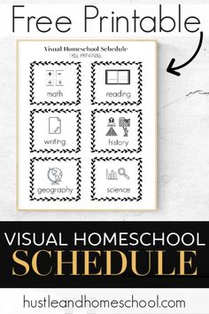 This free printable visual homeschool schedule is so great! I couldn't believe how much it transformed our homeschool days. It is life changing! Visual routine cards for kids. Homeschool Science Curriculum, Homeschool Kindergarten, Homeschool Blogs, Primary Education, Preschool Learning, Learning Tools, Kids Education, Learning Activities, Special Education