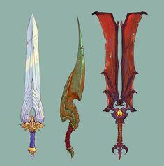 Fantasy Sword, 3d Fantasy, Fantasy Weapons, Fantasy Heroes, Character Concept, Character Design, Great Sword, Armas Ninja, Concept Art World