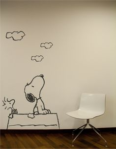 Snoopy Wall Decal. Wall Sticker.. $59.00, via Etsy.