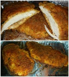 Incredible Cheesy Parmesan Oven-Fried Chicken!