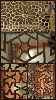 Intricate screen designs. They would also make good stained glass patterns.