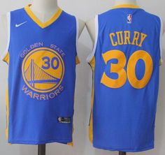Nike Warriors  30 Stephen Curry Royal Road Stitched NBA Jersey Durant Nba fd7080c12