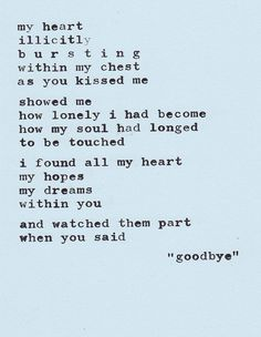 Some strong and beautifully written words about hard goodbyes