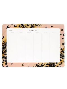 For the workaholic: Garance Dore Leopard Weekly Desk Pad