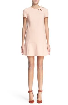 Free shipping and returns on RED Valentino Bow Detail Drop Waist Dress at Nordstrom.com. A dropped waist with gentle flare accentuates a structured shift with a bow-accented neckline.