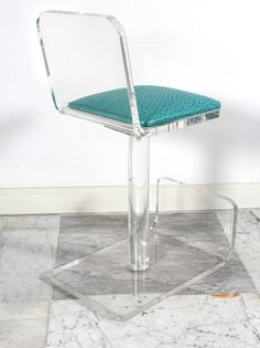 set of four lucite bar stools by karl springer