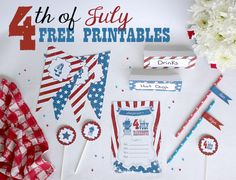 12 Free 4th of July Printables ~ Signs, Games, Banners and More