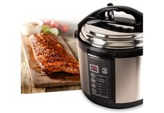 Indoor Pressure Cooker - we received this as a gift. I used it tonight and had a 2.5 lb smoked tenderloin in 40 min. I was very yummy