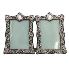 Edwardian sterling silver double picture frames. Added to iList Apps Wedding Registry ✔