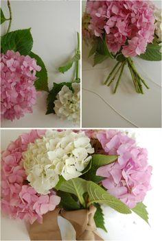 Mis Secretos de Boda: Hazlo Tu Misma. Bouquet de Hortensias.