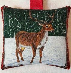 Stag Christmas Gift / Deer Fabric Lavender Bag / Wildlife Gift - Handmade