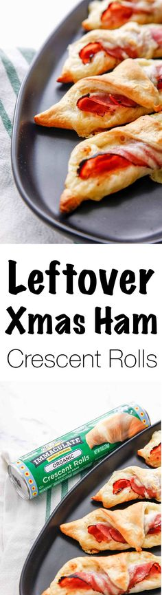 Make the best use of your holiday leftovers by making this Leftover Xmas Ham Crescent Roll Recipe! Easy and the perfect appetizer that uses up your christmas ham, this recipe is perfect for entertaining company and for your holiday party!  Get a coupon HERE (ad): https://ooh.li/452f7e5