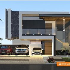 Modern architecture house · new home designs · arquitetura addicts ( Bungalow House Design, House Front Design, Modern House Design, Modern Architecture House, Architecture Design, Villa Design, Modern House Plans, Home Design Plans, Facade House