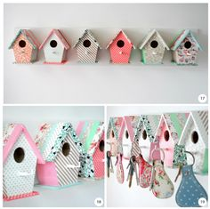 DIY birdhouse key holders - my boyfriends parents would LOVE these.