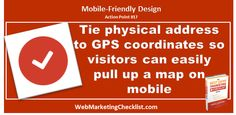 Make sure you have your physical location tied to GPS coordinates so #mobile users can easily find you. #BestDamnBook