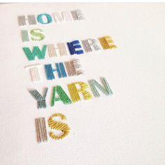 DIY canvas with yarn by @krealoftet_by_skovlund #grenediy