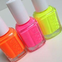 Neon Essie Nail Polishes...Summer Colors ☻                                                                                                                                                                  ⇜•ṄεΦЙ❉€яᗛƶΣ•⇝