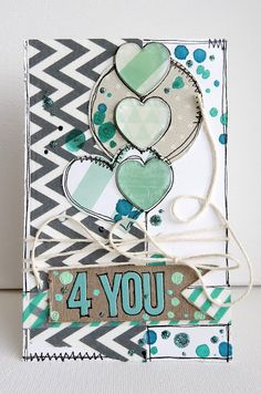 Card made with the #epiphanycrafts Shape Studio Tool Heart 25 from the #xyron blog hop. #card #scrapbook