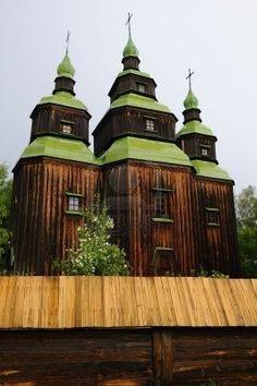 the wooden church in Pirigovo - Ukraine