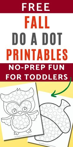 11+ Free Fall Dot Marker Printables (no-prep fun for toddlers & preschoolers)