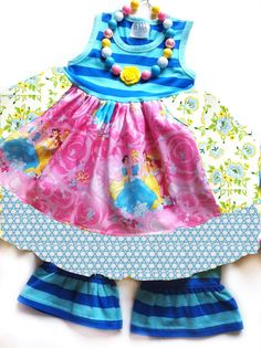 90af4be2d08c Magical Princess dress Momi boutique by momiboutique on Etsy Disney  Princess Dresses, Ruffle Dress,