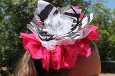 Headband with Vintage Lace Zebra Flower by melmac75 on Etsy, $12.50