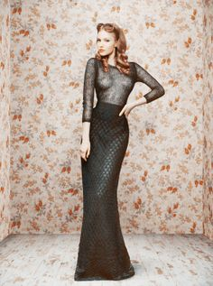 "fall/winter 2011 collection ""illustration of Soviet Vogue 1950s"" by Russian designer Ulyana Sergeenko"