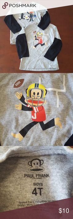 Bundle of Paul Frank monkey shirts Two long sleeved Paul Frank long sleeved shirts in size 4T.  In excellent used condition. Paul Frank Shirts & Tops