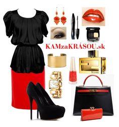 Obľúbená čierno-červená kombinácia :) #kamzakrasou #sexi #love #jeans #clothes #coat #shoes #fashion #style #outfit #heels #bags #treasure #blouses #dress