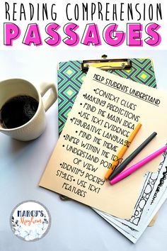 Distance Learning Reading Comprehension Printable packets for grade Reading Strategies Posters, Reading Comprehension Strategies, Reading Passages, Reading Intervention, Reading Response, Teaching Reading, Teaching Ideas, Text Evidence, Third Grade Reading