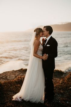 This laid-back Shelter Cove wedding features a blend of two cultures, gorgeous sunset couple portraits, and an intimate guest list.