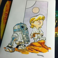Luke Skywalker and R2-D2 x Calvin and Hobbes