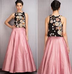 Pinterest: @m1ll1eJ Choli Designs, Saree Blouse Designs, Casual Formal Dresses, Elegant Dresses, Ethnic Outfits, Indian Outfits, Western Dresses, Indian Dresses, Skirt Outfits