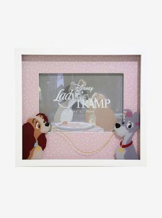 Disney Lady and the Tramp Spaghetti Picture Frame - BoxLunch Exclusive Disney Frozen 2, Disney Tangled, Disney Love, Disney Picture Frames, Harley Quinn Drawing, Disney Images, Lady And The Tramp, Disney Villains, Maleficent