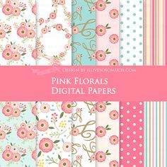 Hey, I found this really awesome Etsy listing at https://www.etsy.com/listing/274314234/pink-florals-floral-party-pink-flowers