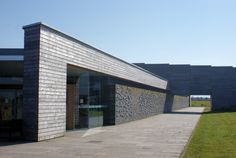 Culloden Visitor Centre: projecting stones