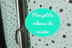Couture: une paire de rideaux pour les fenêtres de la cuisine. ornés de petites trognes de chats coquins.