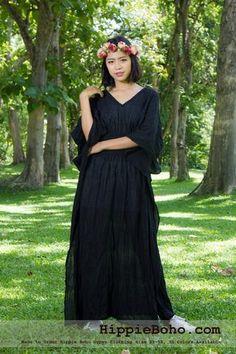 - Size Hippie Boho Caftan Black Maxi Dresses Women's Plus Size Clothing Bohemian Long Dress Plus Size Bohemian Dresses, Bohemian Style Clothing, Bohemian Clothing, Simple Medieval Dress, Gauze Clothing, Boho Outfits, Fashion Outfits, Dress Clothes For Women, Black Maxi