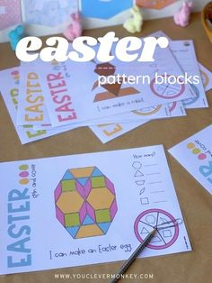 Easter Activities For Kids, Hands On Activities, Math Activities, Creative Writing Ideas, Creative Play, Build Math, Play To Learn, Child Love, Kindergarten Math