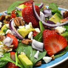 "Strawberry Avocado Salad I ""This was great... the honey vinagerette is the perfect touch. It really makes the recipe."""