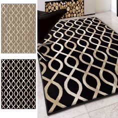 Carolina Weavers Finesse Collection In the Genes Black Area Rug (7'10 x 10'10) (