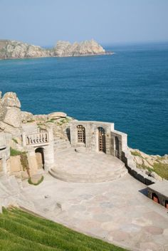The beautiful Minack Theatre in Cornwall, UK. It looks almost like the Greek Islands in this photo.