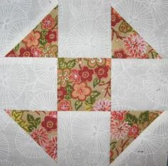 """Design a Quilt with My Free Quilt Block Patterns: Shoo Fly Quilt Block Pattern - 6"""" & 12"""" Blocks"""