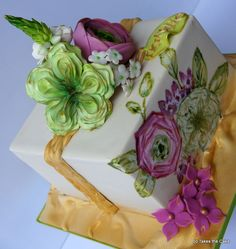 Very sweet and dainty! ~ all sugar flowers, hand painted  and all edible