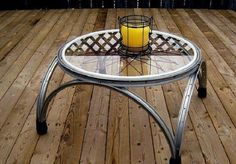 Coffee Table From Old Bicycle